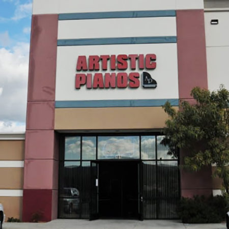 Artistic Pianos San Marcos Showroom Storefront